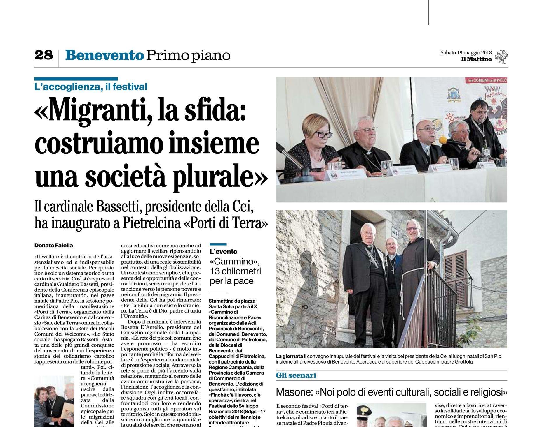 Portiditerra2018 Dicono Di Noi Caritas Benevento